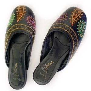 Sam Edelman Leather Flats Embroidered